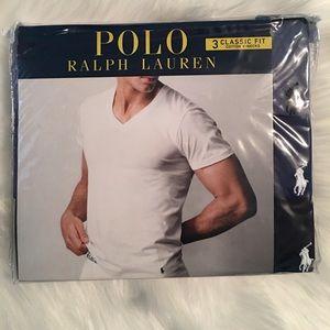 Polo Ralph Lauren Men's 3 Pack V-Neck T -Shirts